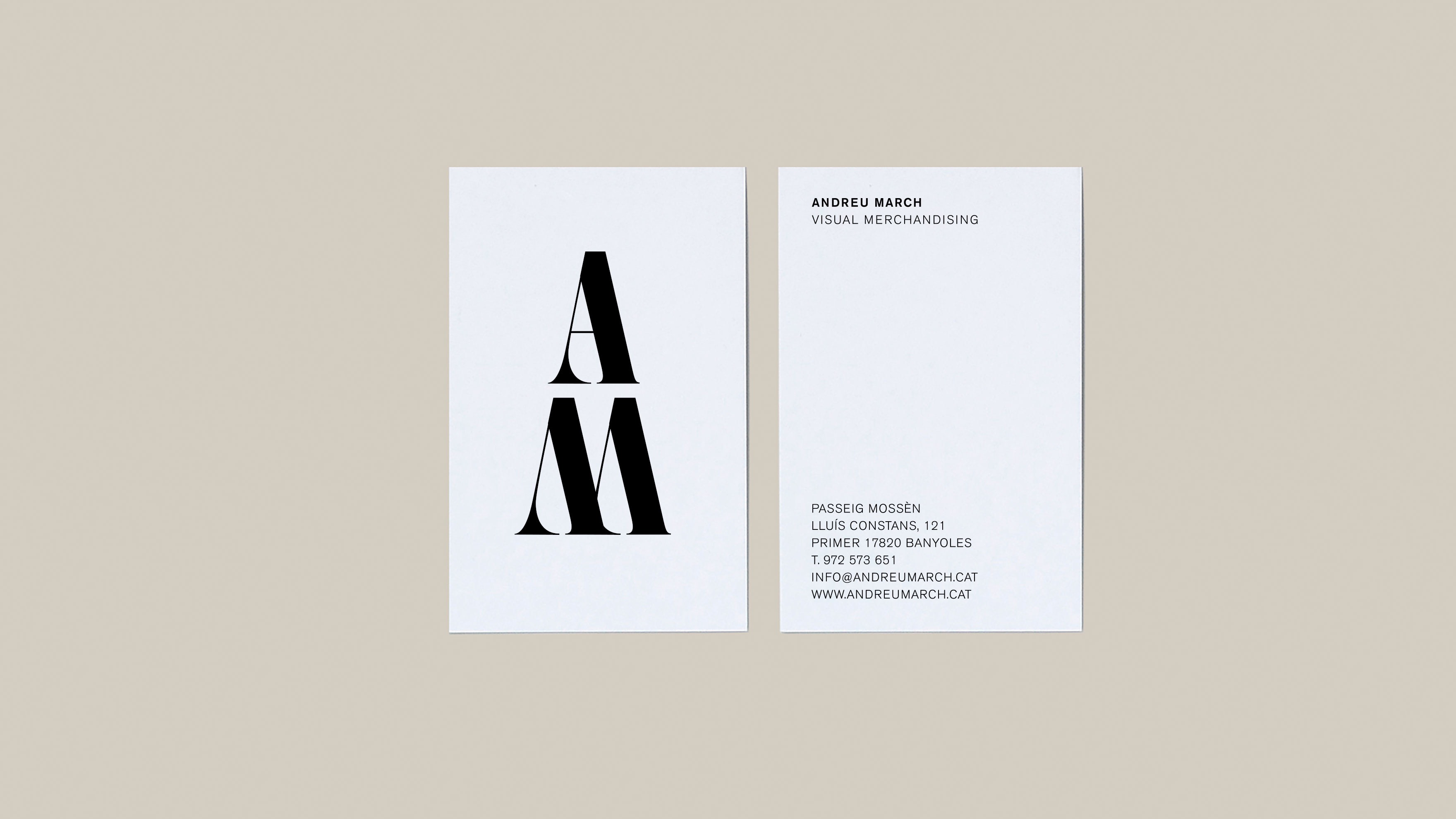ANDREU MARCH / IDENTITAT CORPORATIVA / BRANDING