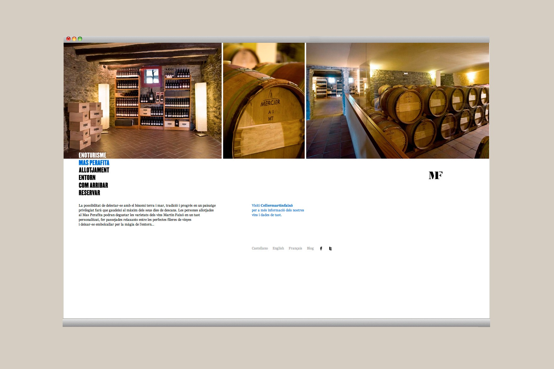 CELLER MARTÍN FAIXÓ / WEB DESIGN