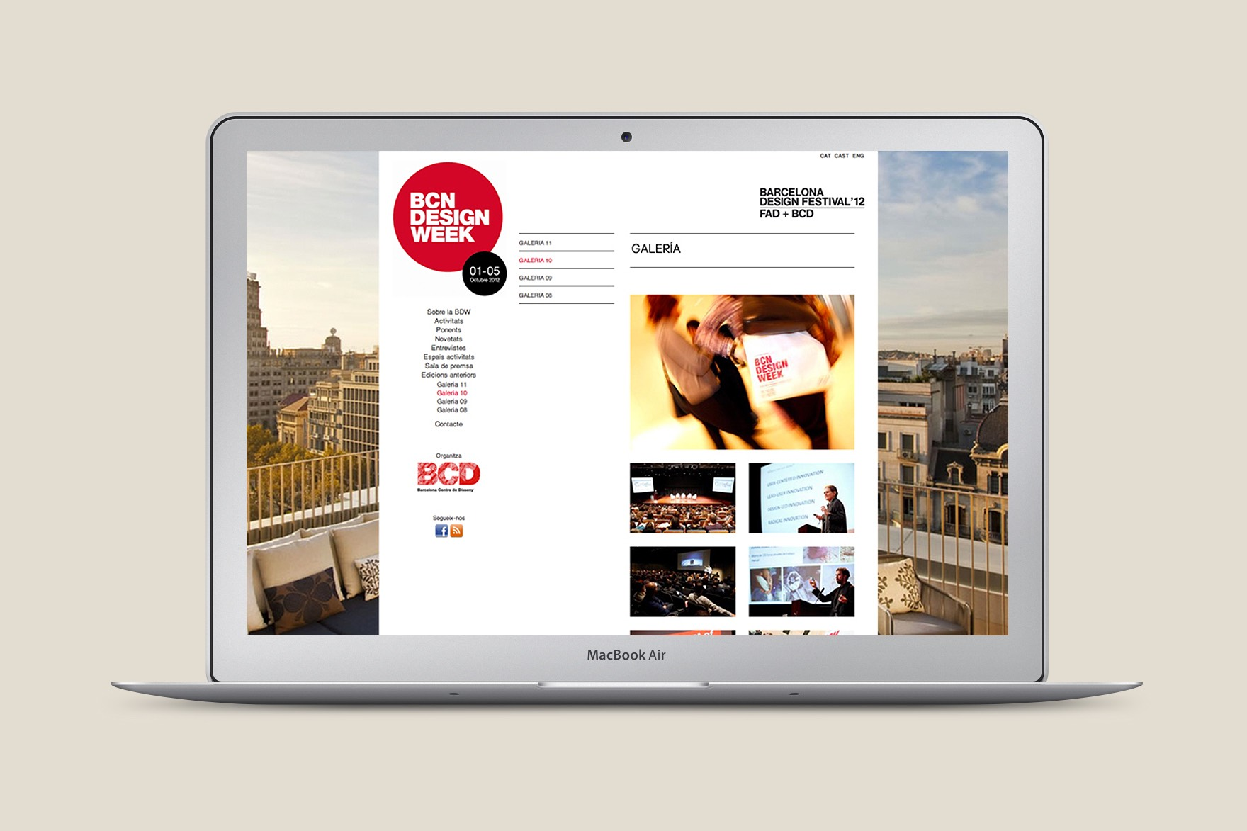 BARCELONA DESIGN WEEK / WEB DESIGN