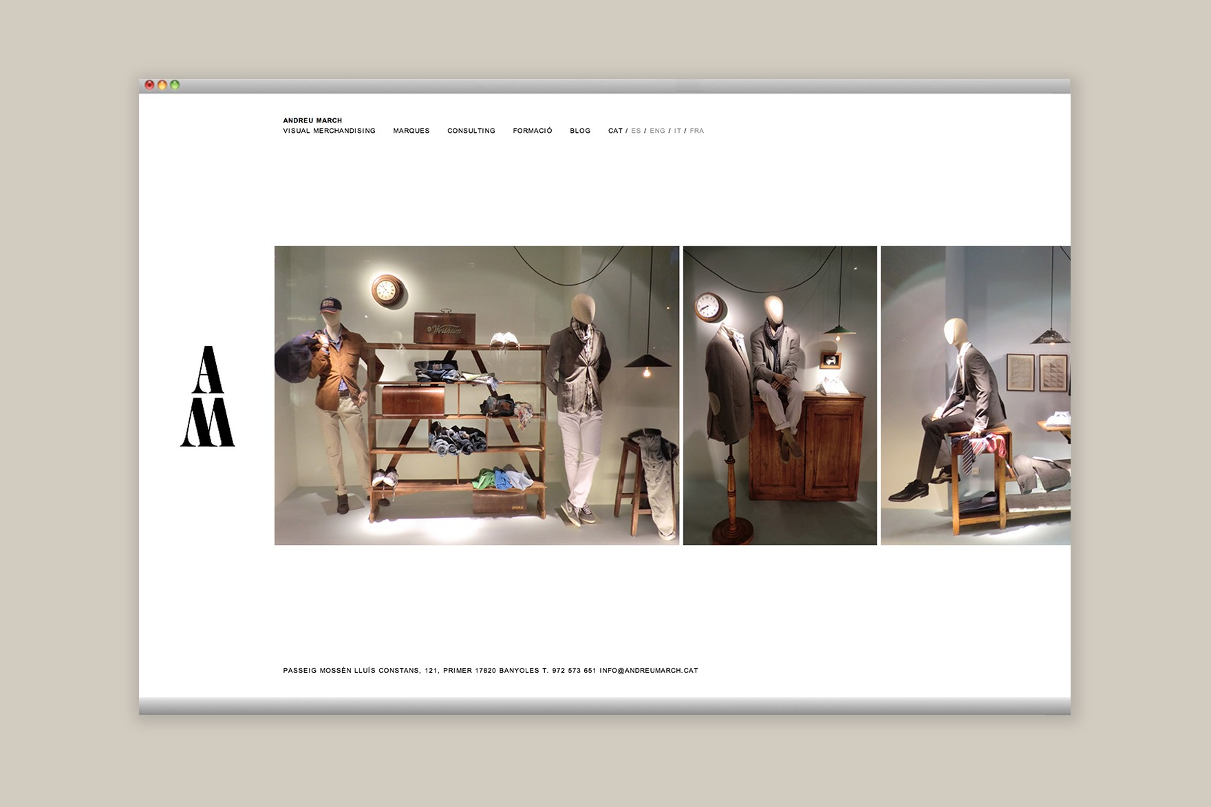 ANDREU MARCH / WEB DESIGN
