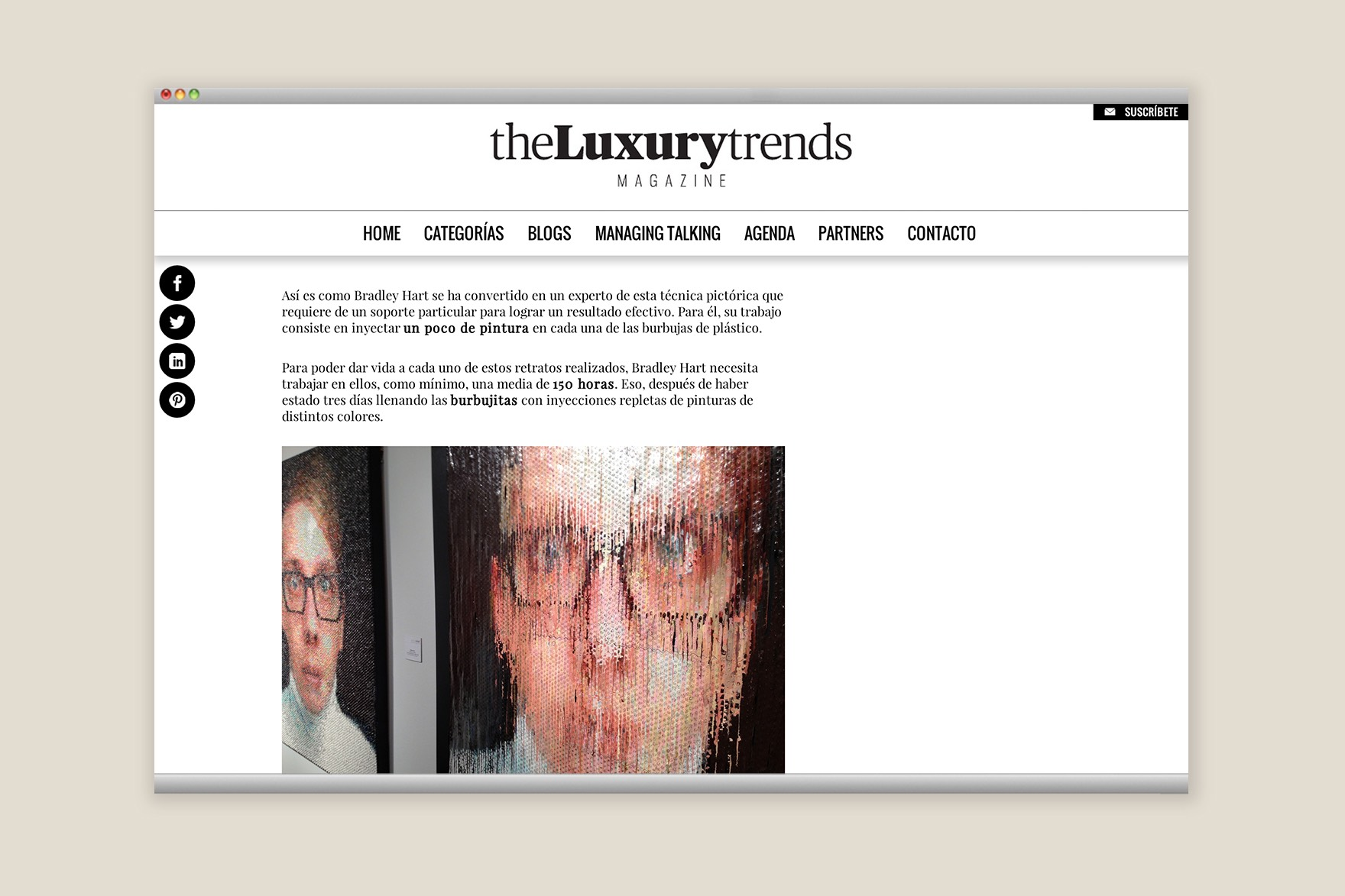 THE LUXURY TRENDS / DISEÑO WEB