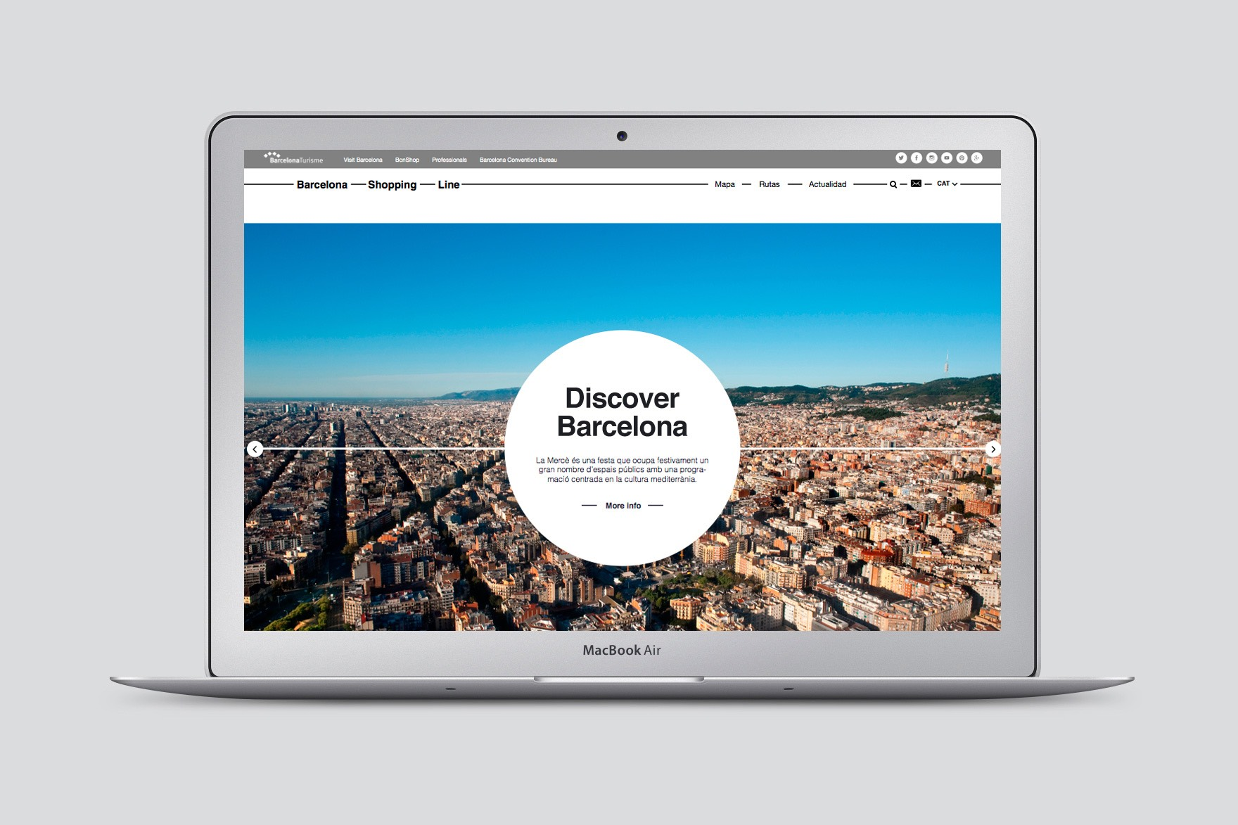 BARCELONA SHOPPING LINE / WEB DESIGN