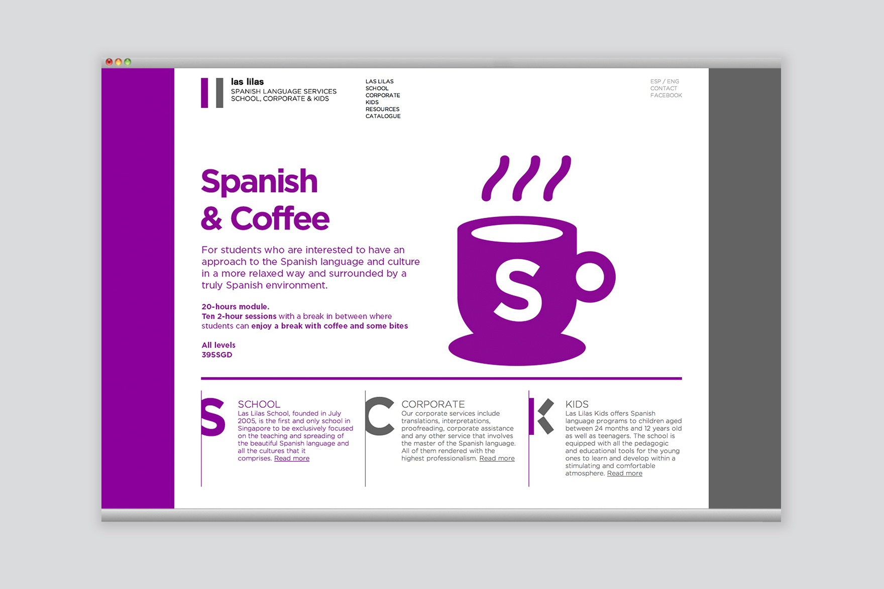 LAS LILAS SCHOOL / WEB DESIGN
