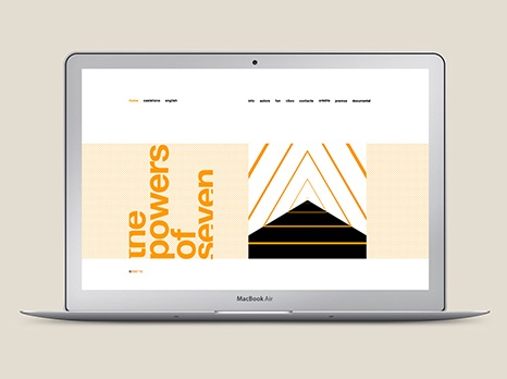 POWERS OF SEVEN / DISEÑO WEB