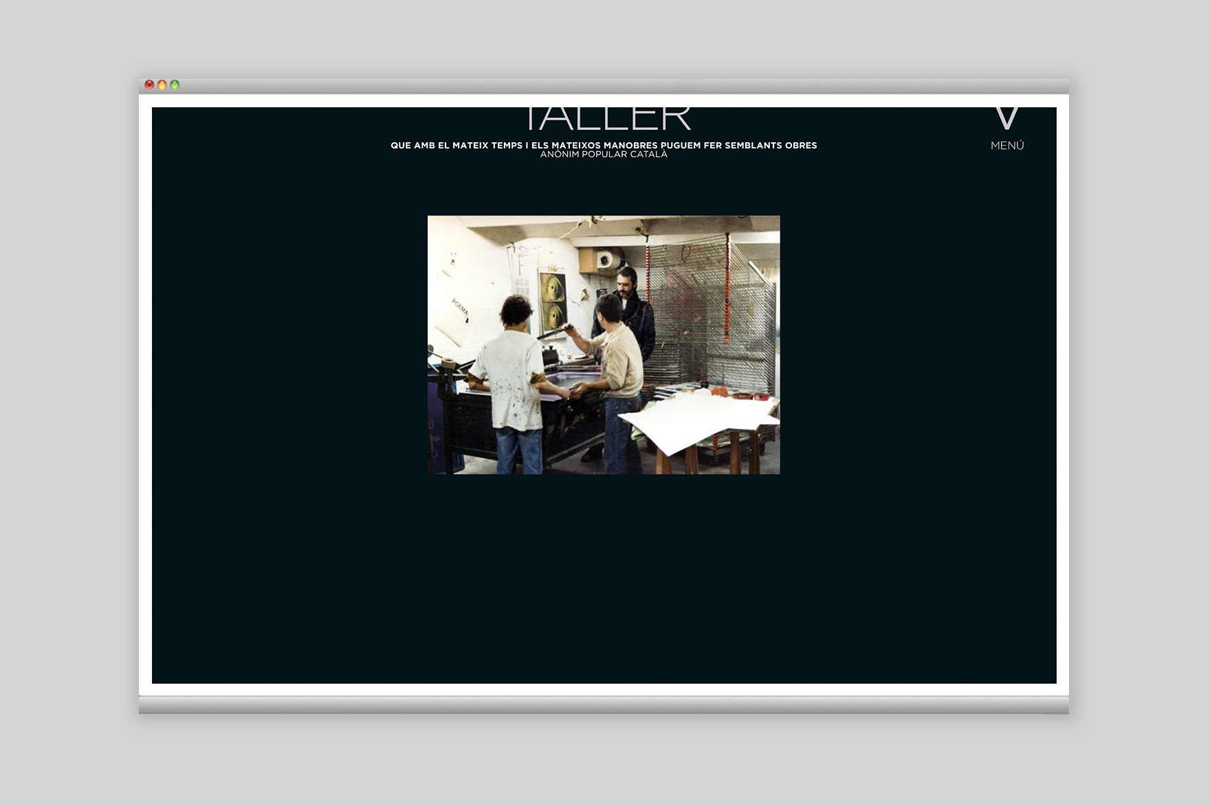 TALLER VALLIRANA / WEB DESIGN